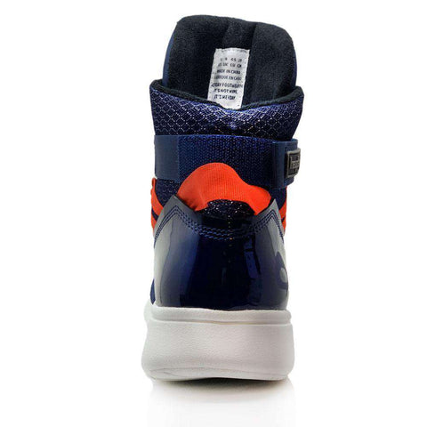 Image of Heyday Footwear Sneakers Navy/Infrared Mission Trainer High Top Sneakers for Bodybuilding and Cardio