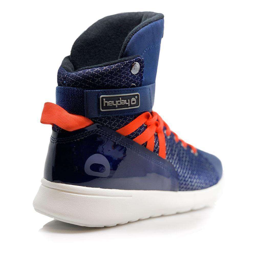 Heyday Footwear Sneakers Navy/Infrared Mission Trainer High Top Sneakers for Bodybuilding and Cardio