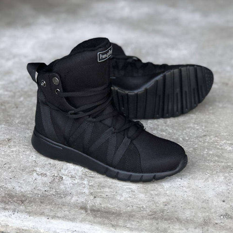 Image of Heyday Footwear Sneakers PRE ORDER Black Ninja Super Freak 2.0 High Top Sneaker for Cardio and Bodybuilding