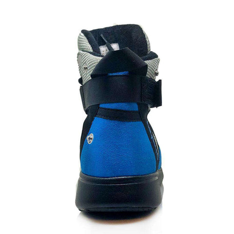 Image of Heyday Footwear Sneakers PRE ORDER Silver/Blue/Black Super Freak 2.0 High Top Sneaker for Cardio and Bodybuilding