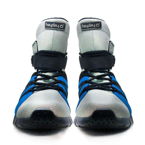 Heyday Footwear Sneakers PRE ORDER Silver/Blue/Black Super Freak 2.0 High Top Sneaker for Cardio and Bodybuilding