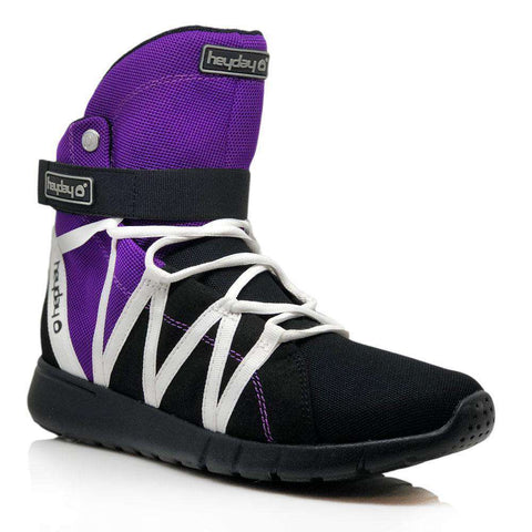 Heyday Footwear Sneakers Purple/Black/White Super Freak 2.0 High Top Sneaker for Cardio and Bodybuilding
