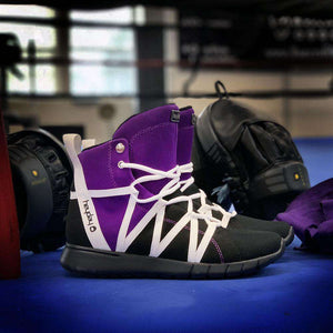 Purple/Black/White Super Freak 2.0 High Top Sneaker for Cardio and Bodybuilding