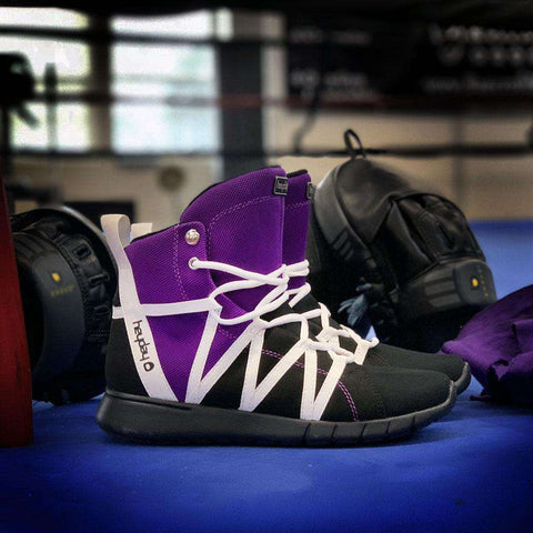 Image of Heyday Footwear Sneakers Purple/Black/White Super Freak 2.0 High Top Sneaker for Cardio and Bodybuilding