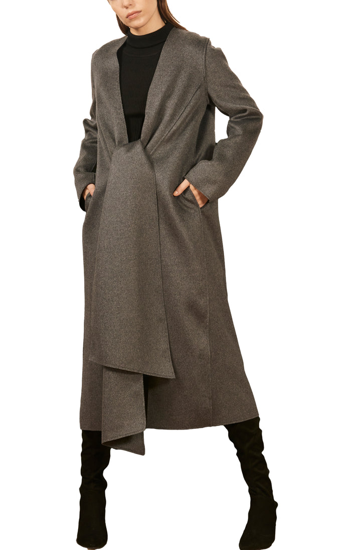 The Knot Coat Extra Small / Concrete