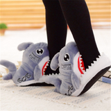 Fuzzy Shark Slippers - UnsualThings