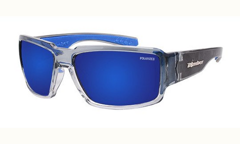 Bomber Sunglasses Boogie Bomb Crystal/Blue Mirror
