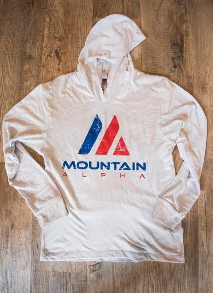 Clearance Uphill Hustle Hoodie (Heather White)