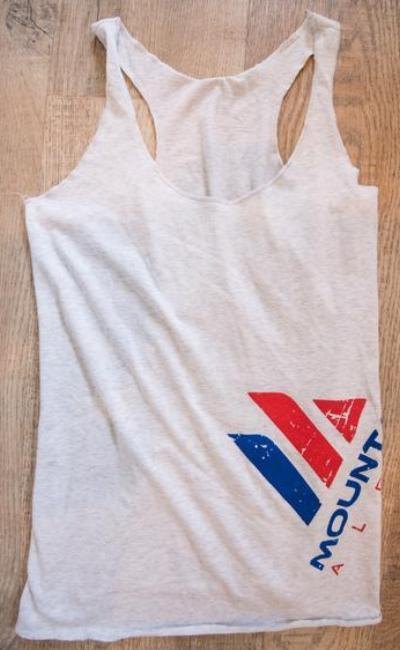 Women's Racer Back (Heather White)