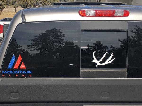 """Muley Shed"" Sticker (White)"