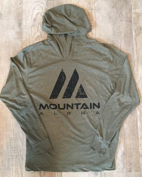 """Uphill Hustle"" Hoodie (Mountain Green)"