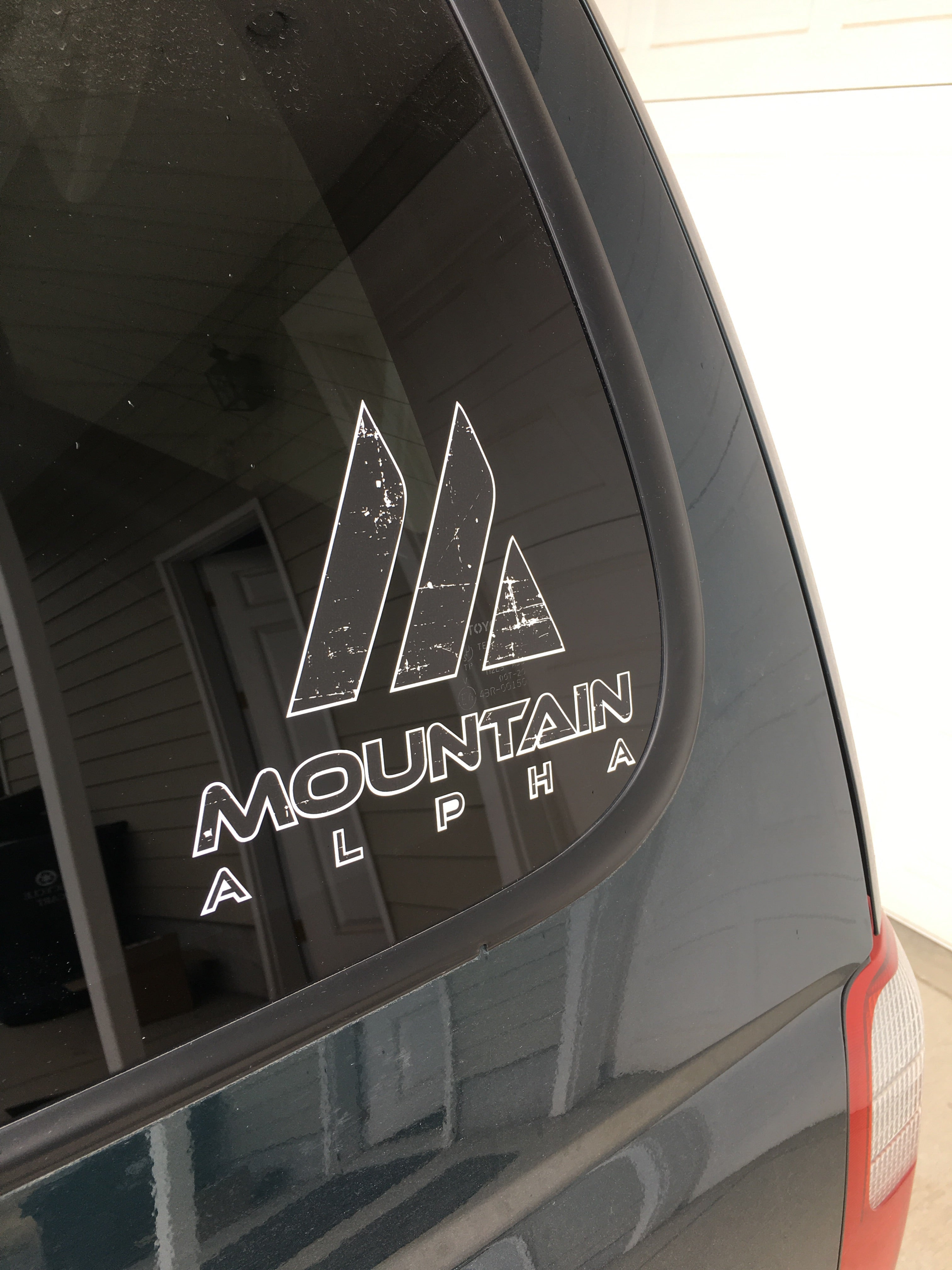 6x8in Die Cut Sticker (Black)