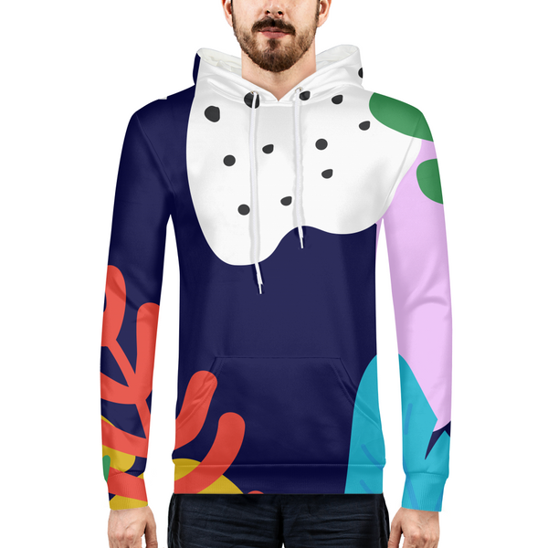 PopFloral Mens All-Over Print Hoodie - ComfiArt