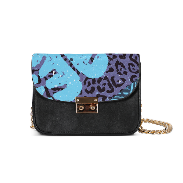 Blue News Small Shoulder Bag - ComfiArt