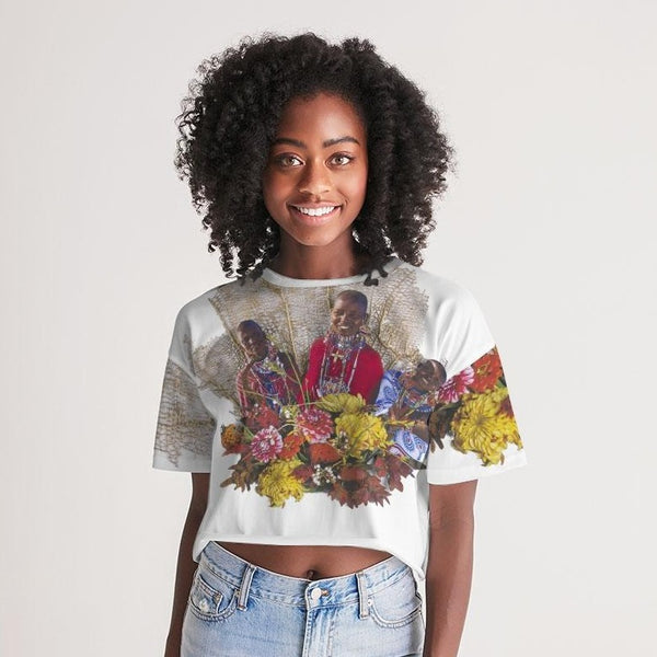 Generational Wealth Women's Lounge Cropped Tee - ComfiArt