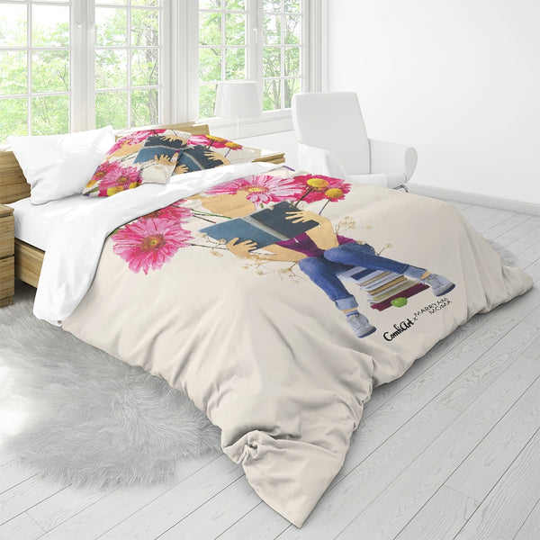 Tending the Garden  King Duvet Cover Set - ComfiArt