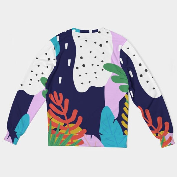 Pop Floral Classic French Terry Crewneck Pullover - ComfiArt