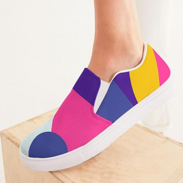 Color Abstract Women's Slip-On Canvas Shoe - ComfiArt