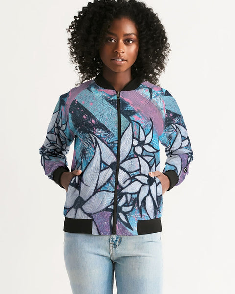 Blue Women's Bomber Jacket - ComfiArt