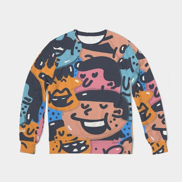 Faces Unisex Classic French Terry Crewneck Pullover - ComfiArt