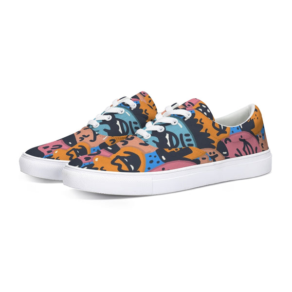 Faces Lace Up Canvas Shoe - ComfiArt