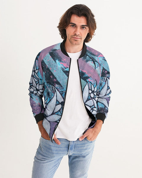 Blue Men's Bomber Jacket - ComfiArt