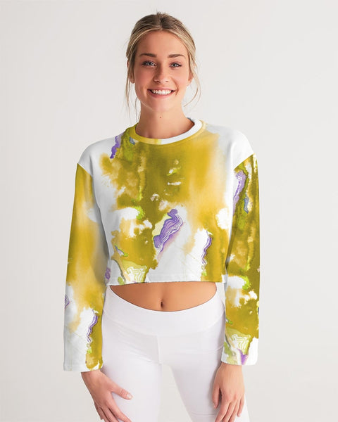 yellow soul Women's Cropped Sweatshirt - ComfiArt