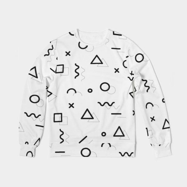 Abstract Love Unisex Classic French Terry Crewneck Pullover - ComfiArt