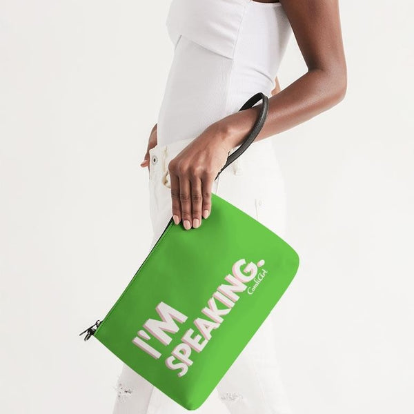 I'm Speaking Green Daily Zip Pouch - ComfiArt