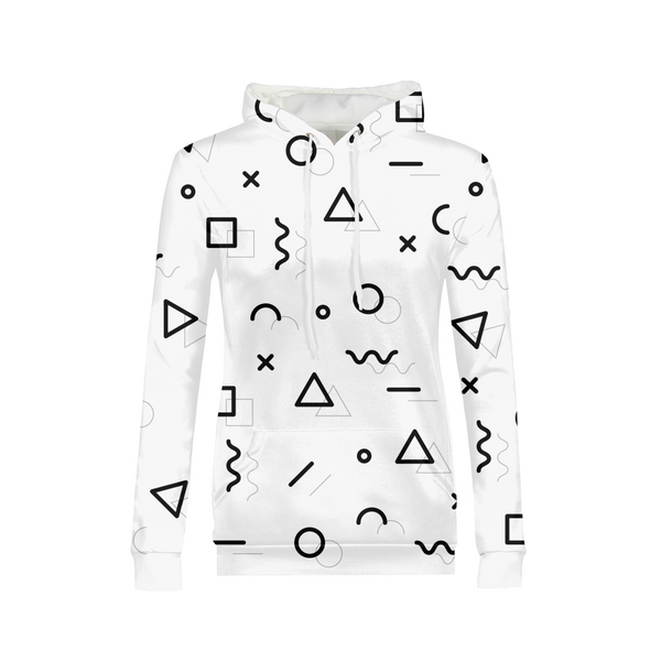 Abstract Love Womens All-Over Print Hoodie - ComfiArt