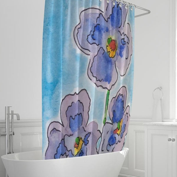 "Azul Shower Curtain 72""x72"" - ComfiArt"