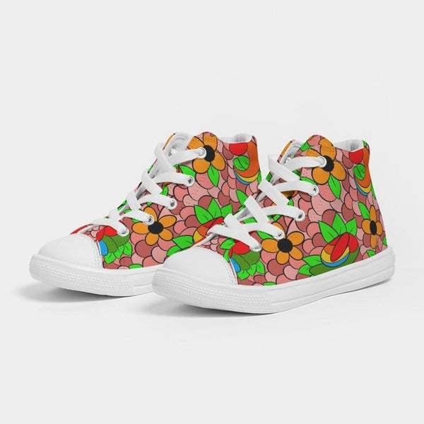 Izwi Collage Kids Hightop Canvas Shoe