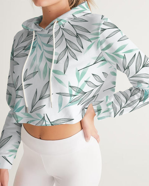 Leaf Women's Cropped Hoodie - ComfiArt