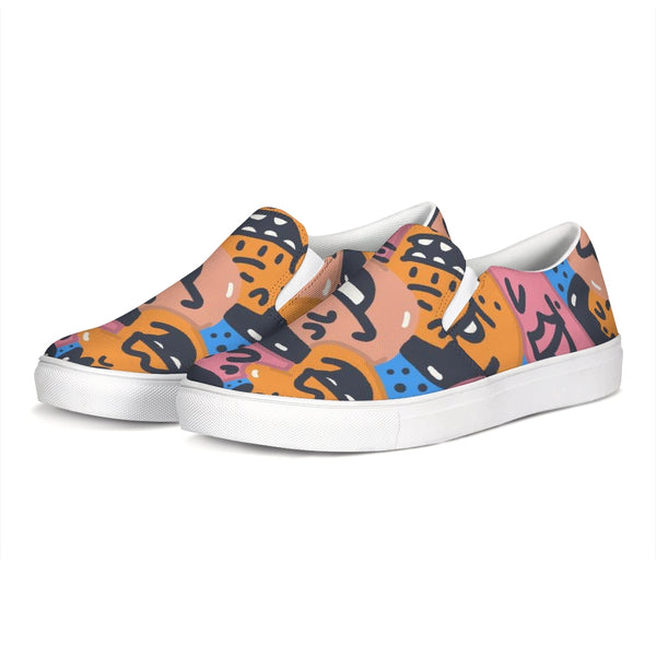 Faces Slip-On Canvas Shoe - ComfiArt