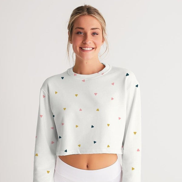 Abstract Cropped Sweatshirt - ComfiArt