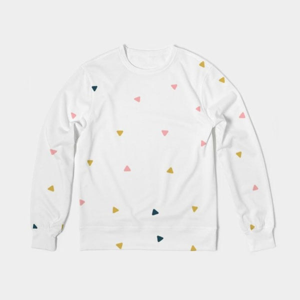 Abstract Fall Classic French Terry Crewneck Pullover