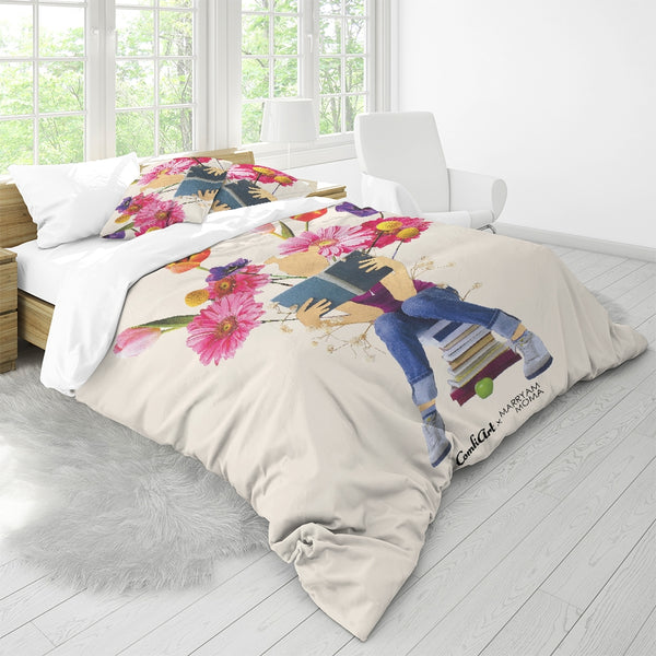 Tending the Garden  Queen Duvet Cover Set - ComfiArt