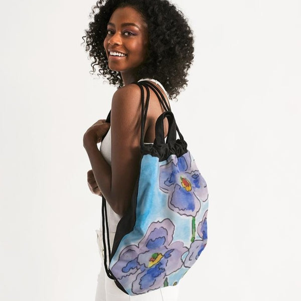 Azul Canvas Drawstring Bag - ComfiArt