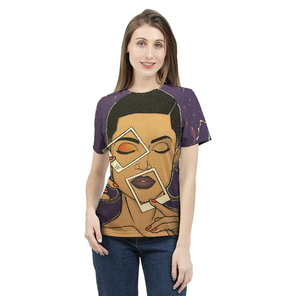 Picture Perfect Womens All-Over Print  T-Shirt - ComfiArt