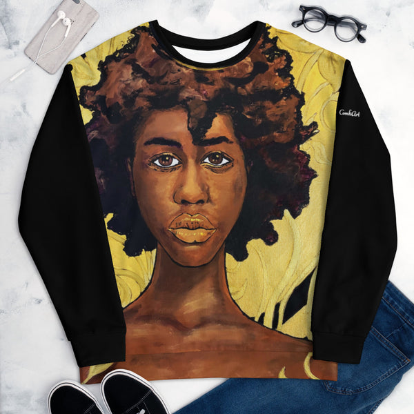 Beauty in Gold Unisex Sweatshirt - ComfiArt