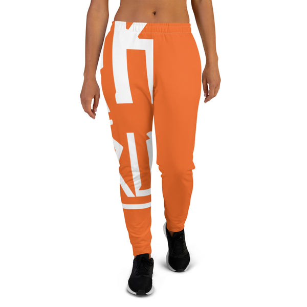 Funk Tha World Orange Women's Joggers - ComfiArt