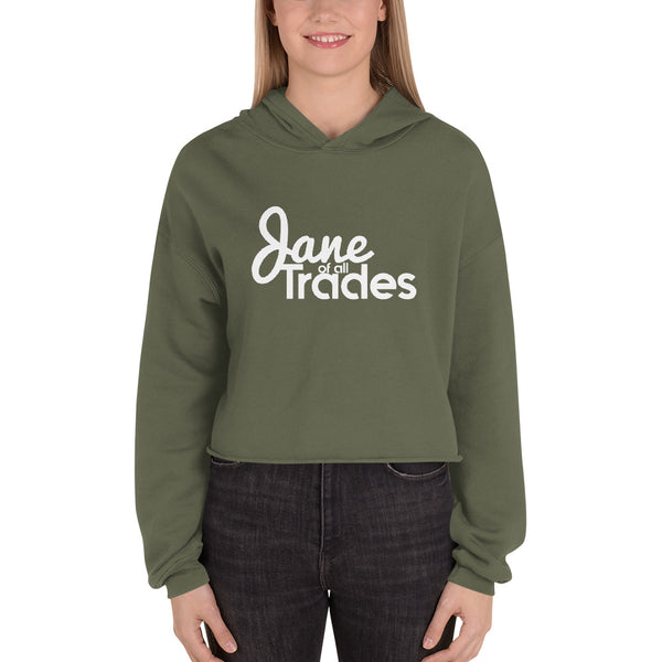 Jane of all Trades Crop Hoodie - ComfiArt