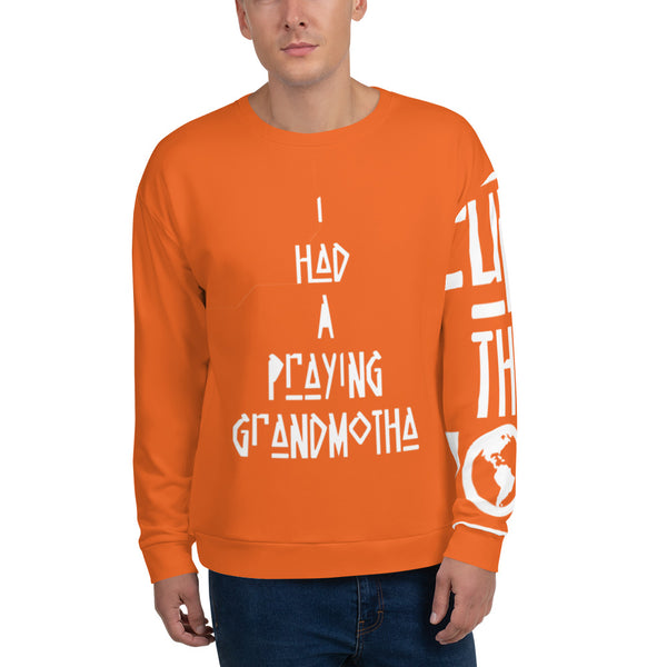 Praying Orange Unisex Sweatshirt - ComfiArt