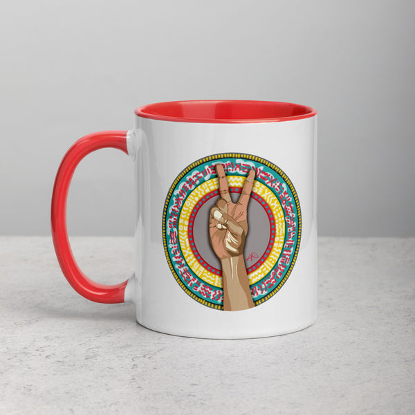 Peace Mug with Color Inside - ComfiArt