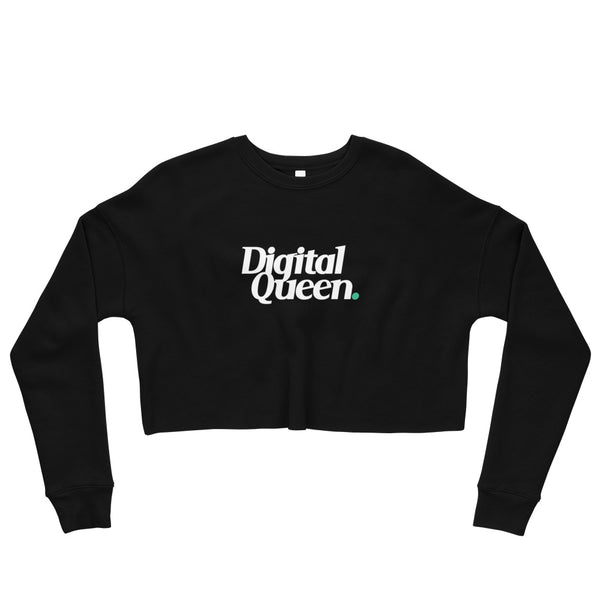 Digital Queen Crop Sweatshirt - ComfiArt