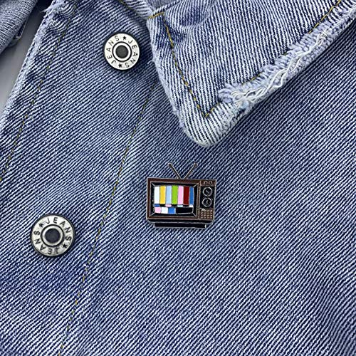 Multicolor Retro TV Rainbow Bars Lapel Pin. - ComfiArt