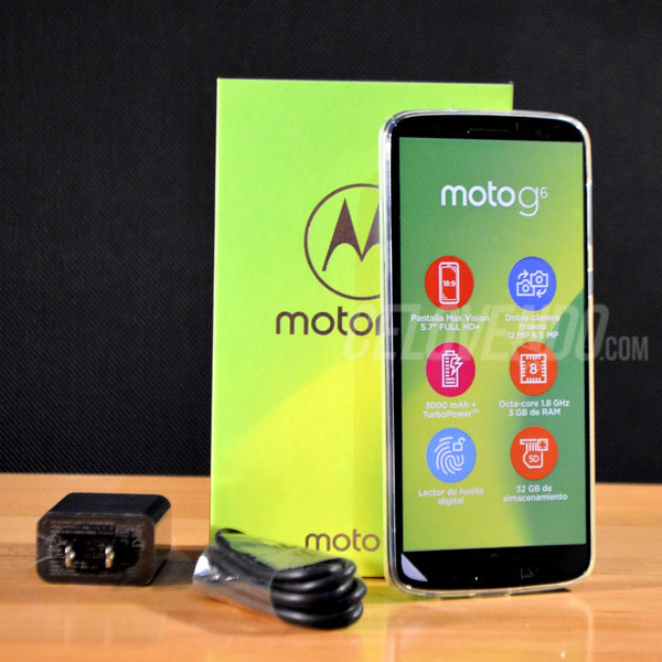 Motorola G6 Color Negro Deep | 32gb | Doble Sim | XT1925 | Liberado