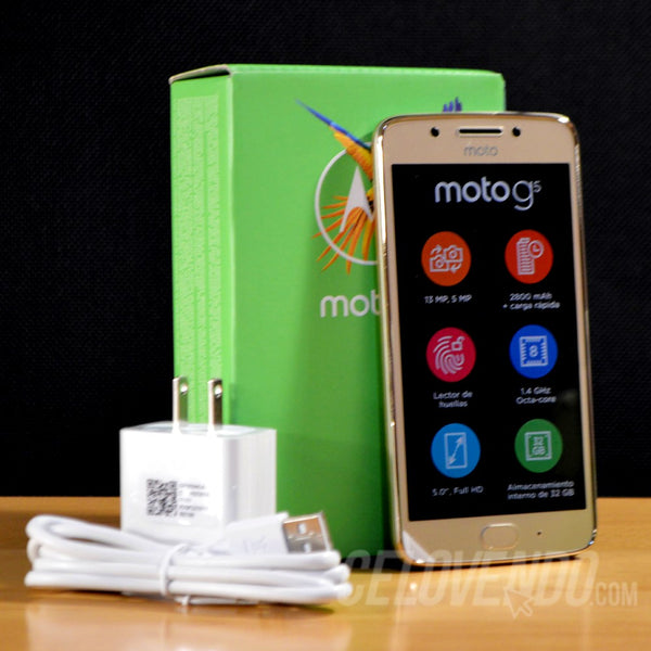 Motorola G5 Color Dorado | 32GB | Doble Sim  | XT1671 32GB DS | Liberado