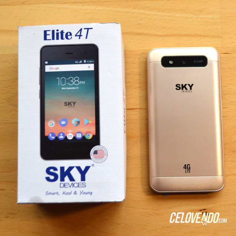 Celular Sky Elite 4T | Color Negro | Tigo