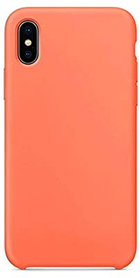 Estuche de Silicon Color Naranja | iPhone XS